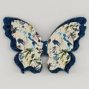 Double Fancy Butterfly Clip - Floral