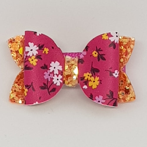 1.75 Inch Baby Imogen Bow - Bright Petite Blooms