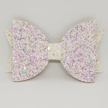 4.3 Inch Natalie Leatherette Bow -  Unicorns with Wisteria