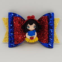 4.3 Inch Deluxe Natalie Bow - Snow White Inspired