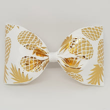 6 Inch Tailless Cheer Bow - Pineapples