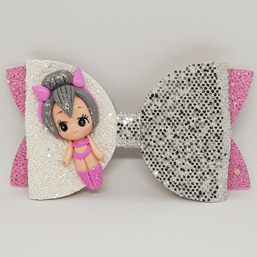 4 Inch Imogen Deluxe Glitter Bow - Kitty Queen Inspired