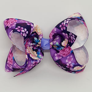 4 Inch Boutique Bow - Flowers