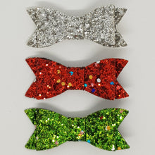 2.75 Inch Ivy Bow Christmas Trio Set -  Christmas Tinsel