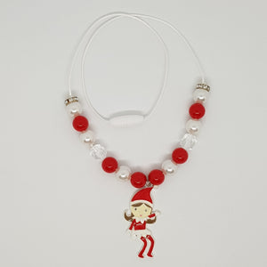 Petite Bubblegum Bling Necklace - Christmas Elf