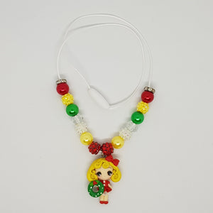 Petite Bubblegum Bling Necklace - Christmas Darling