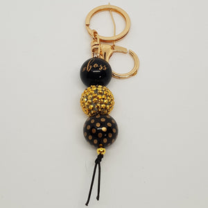 Bubblegum Bling Key Ring / Bag Bling - Boss - Gold