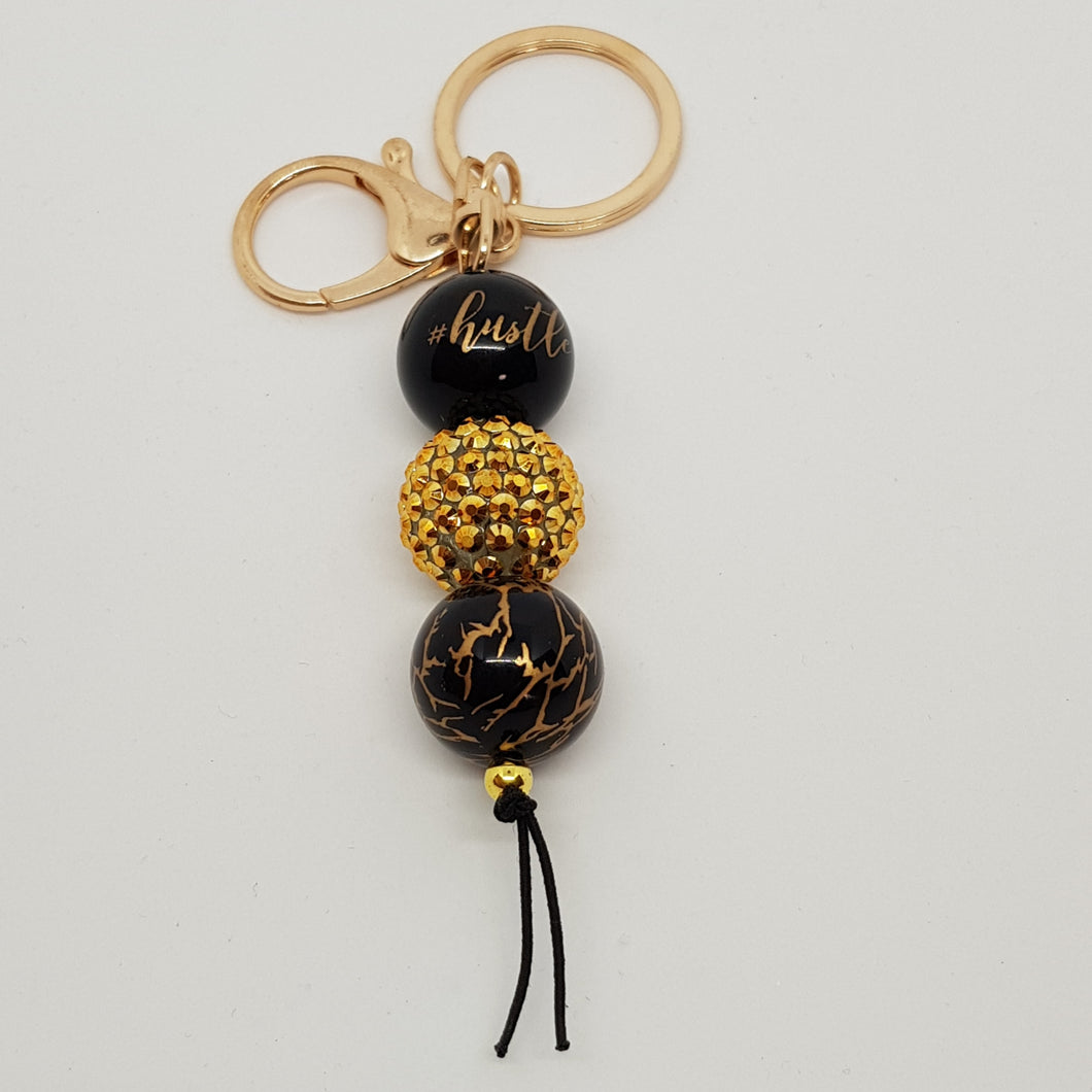 Bubblegum Bling Key Ring / Bag Bling - Hustle - Gold