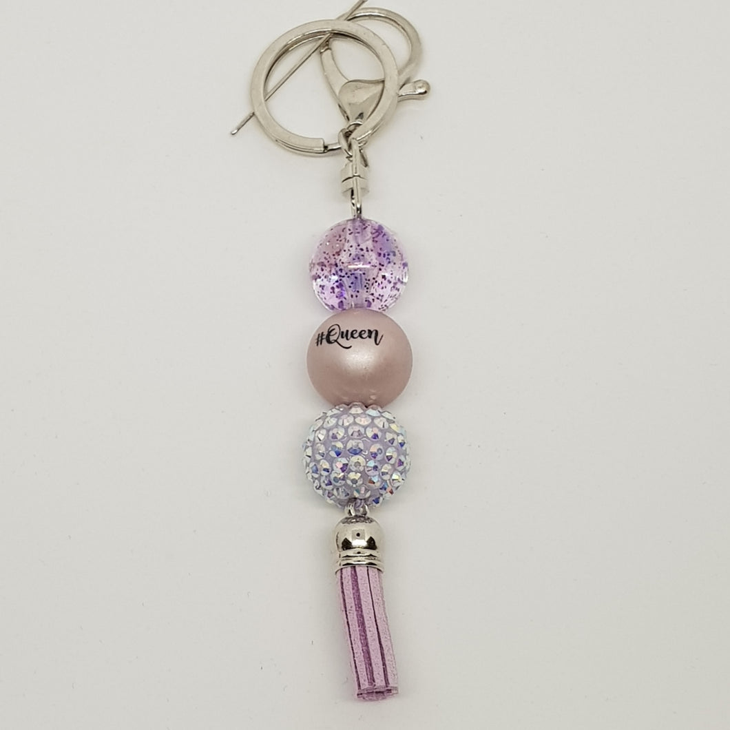 Bubblegum Bling Key Ring / Bag Bling - Queen