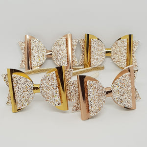 4.3 Inch Natalie Bow - Sprinkle of Gold