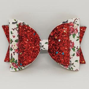4.3 Inch Natalie Bow - Christmas Sleepy Unicorn