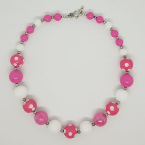 Bubblegum Bling Necklace - Hot Pink