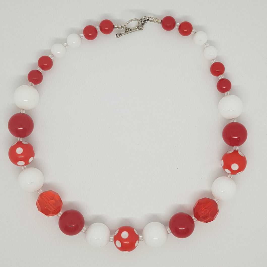 Bubblegum Bling Necklace -  Red