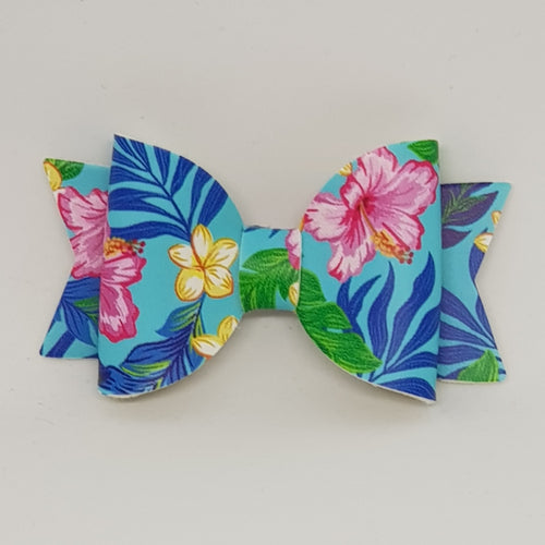 2.5 Inch Baby Natalie Bow - Tropical Flowers