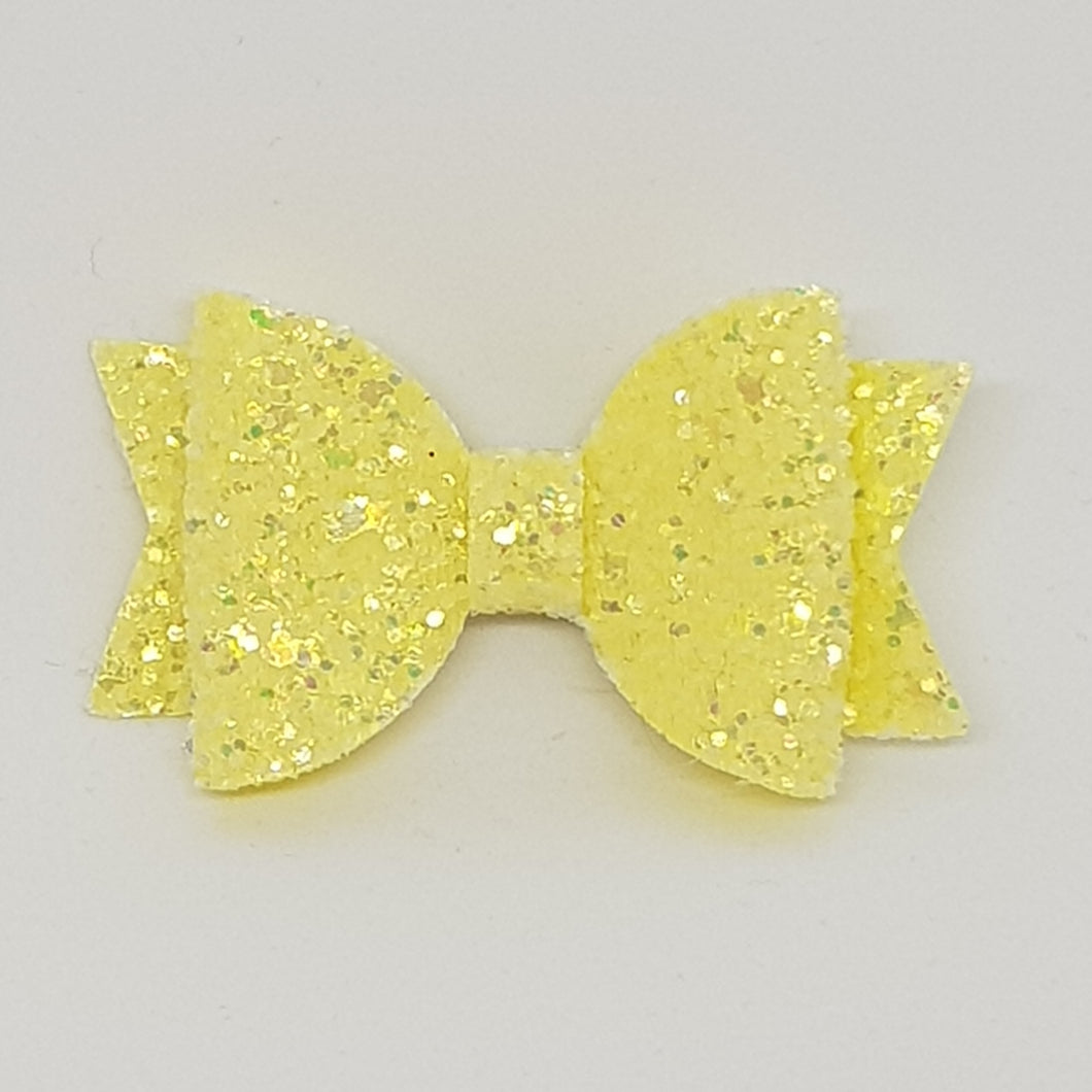 2.5 Inch Baby Natalie Bow - Pineapple Frosted Glitter