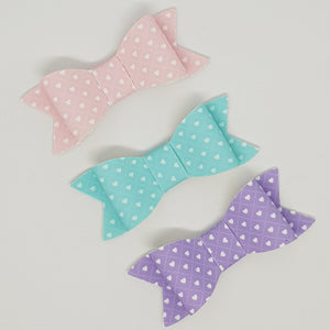 2.75 Inch Ivy Bow Set -  Tiny Hearts