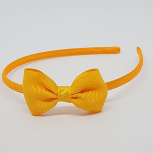 2.5 Inch Tuxedo Hair Bows - Yellows