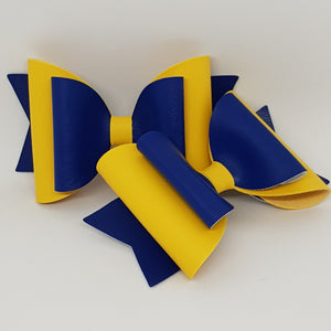 4.3 Inch Natalie Bow - Blue & Yellow
