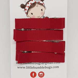 4.5 cm Non Slip Clips - Essentials Clip Set - Reds