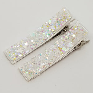 Glitter Essentials Clip Set - Whites