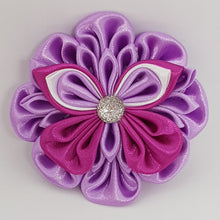 Kanzashi 2.75 Inch Butterfly on  Flower