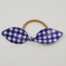 Faux Leather Top Knot Headband - Checkered
