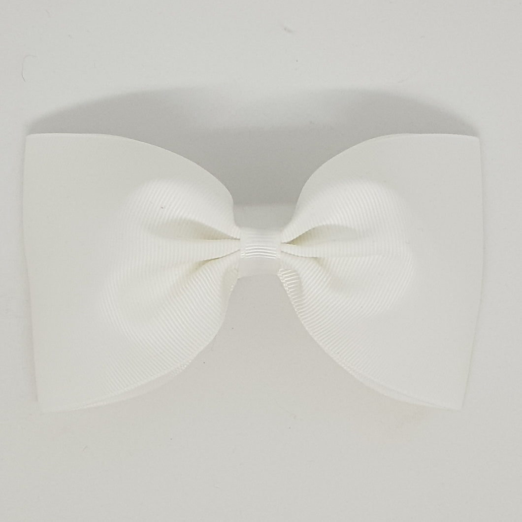 6 Inch Tailless Cheer Bow - White