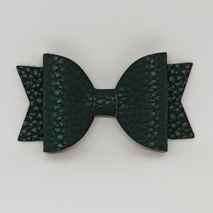 2.5 Inch Baby Natalie Leatherette Bow - Spruce