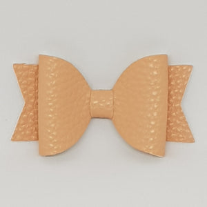 2.5 Inch Baby Natalie Leatherette Bow - Petal Peach