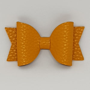 2.5 Inch Baby Natalie Leatherette Bow - Yellow Gold