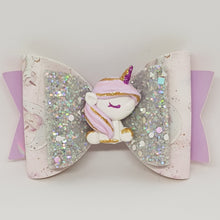4.3 Inch Deluxe Natalie Bow - Unicorn