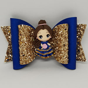 4.3 Inch Deluxe Natalie Bow - Belle Inspired