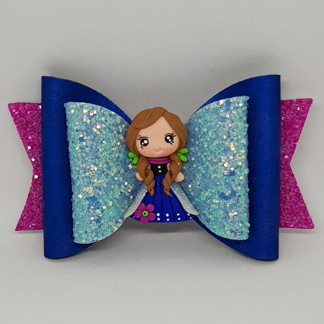 4.3 Inch Deluxe Natalie Bow - Anna Inspired Frozen 2