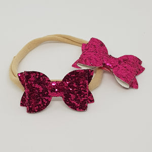 2 Inch Baby Beauty Bow - Azalea
