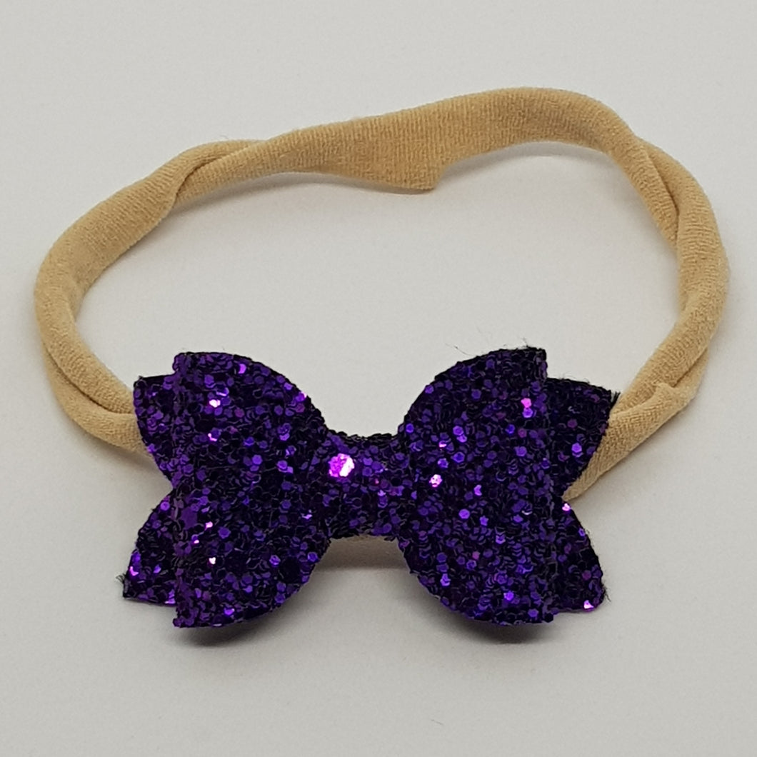 2 Inch Baby Beauty Bow - Regal Purple