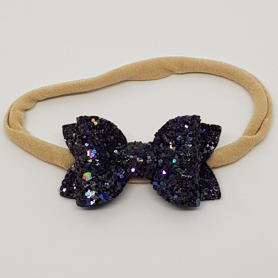 2 Inch Baby Beauty Bow - Midnight Sky