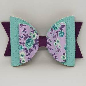 4.3 Inch Natalie Bow - Roses on Lavender