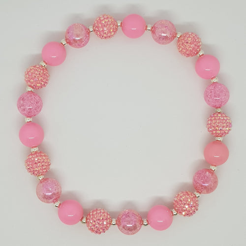 Bubblegum Bling Necklace - Pretty In Pink