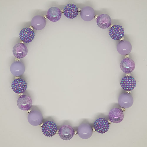 Bubblegum Bling Necklace - Purple Princess