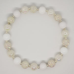 Bubblegum Bling Necklace - It's All White