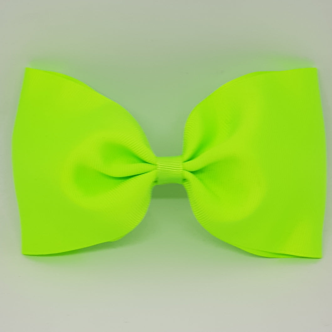 6 Inch Tailless Cheer Bow - Greens