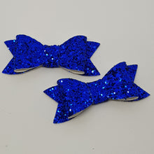 2.75 Inch Ivy Chunky Glitter Bow - Cobalt