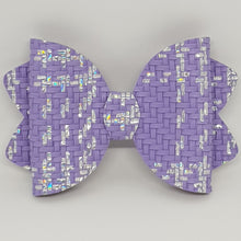 4.25 Inch Ava Chunky Glitter Bow - Basket Weave
