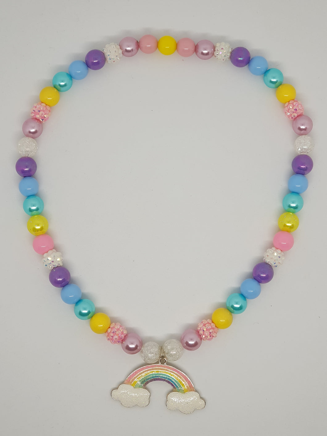 Petite Bubblegum Bling Necklace - Pastel Rainbow