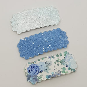 Snap Clip Set - Blooms in Blue