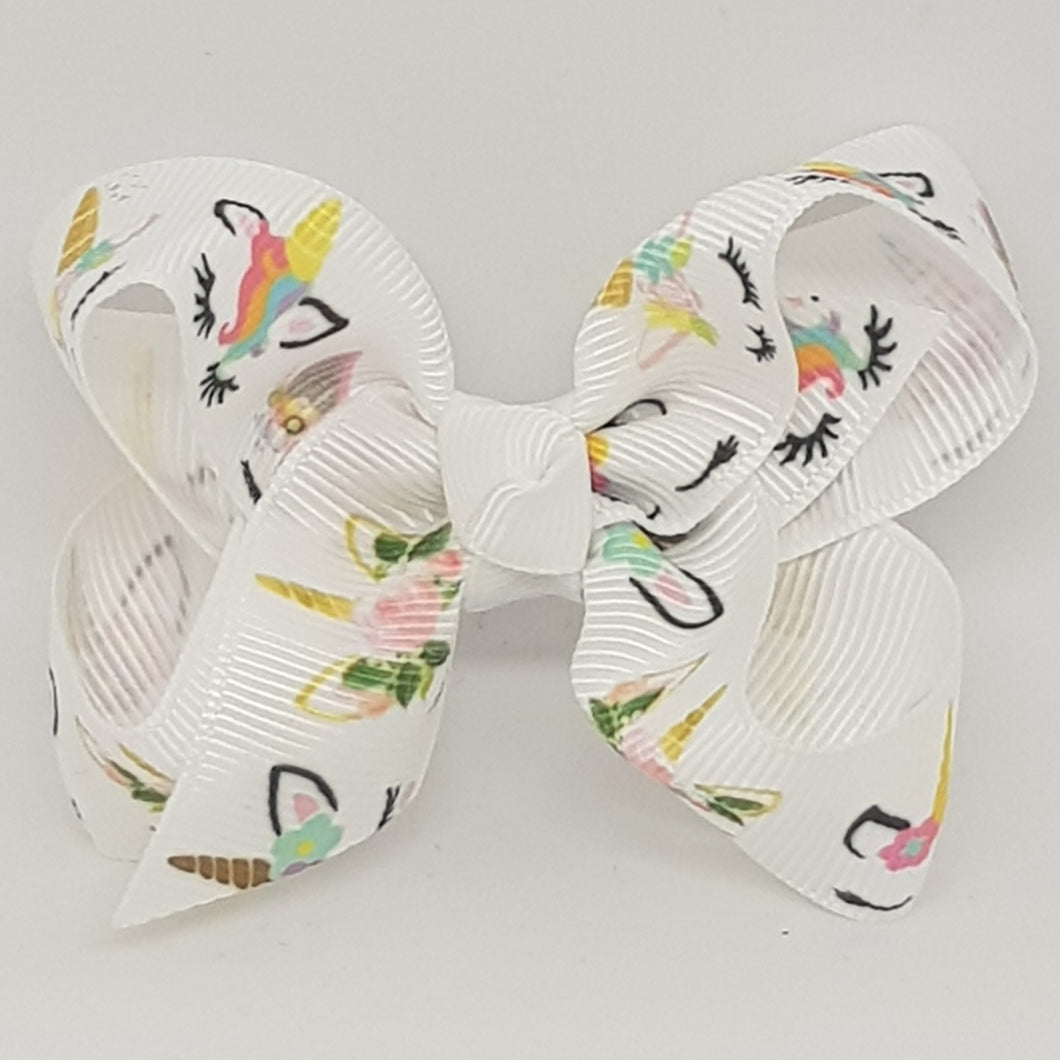 2.5 Inch Boutique Bow - Unicorns