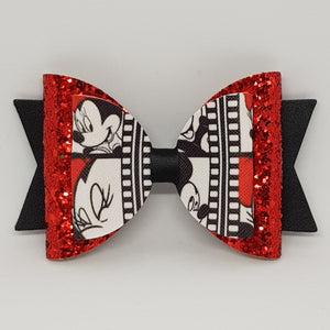 4.3 Inch Natalie Bow - Mickey & Minnie Mouse