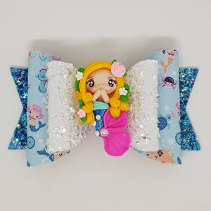 4.3 Inch Deluxe Natalie Bow - Mermaid Royalty