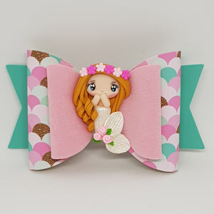 4.3 Inch Deluxe Natalie Bow - Pretty in Pinks Mermaid