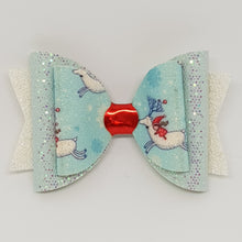 4.3 Inch Natalie Bow - Christmas Elf on Reindeer